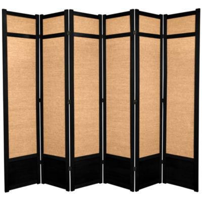Oriental Furniture 7' Jute Shoji 6 Panel Room Divider