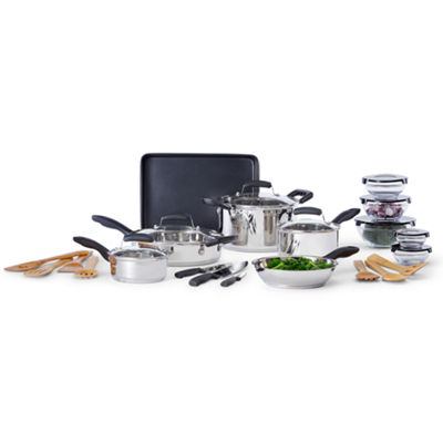 Cooks 25-pc. Stainless Steel Cookware Set