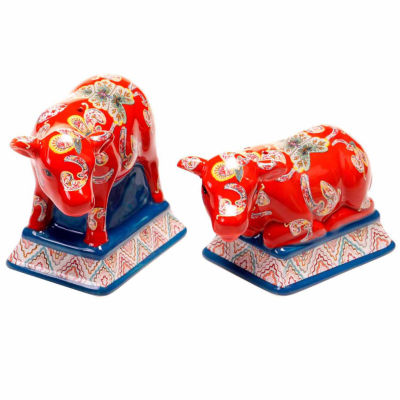 Certified International French Meadows Salt + Pepper Shakers