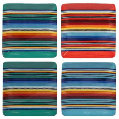 Certified International Pinata 4-pc. Appetizer Plate