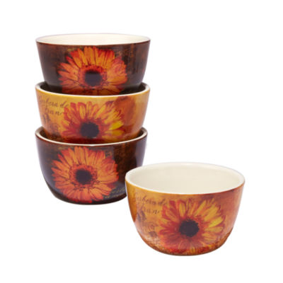 Certified International Gerber Daisy 4-pc. Ice Cream Bowl