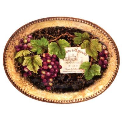Certified International Gilded Serving Platter