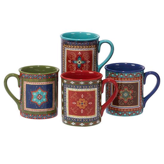 Certified International Monterrey 4-pc. Coffee Mug