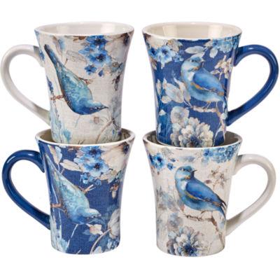 Certified International Indigold Bird 4-pc. Coffee Mug