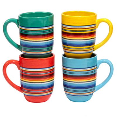 Certified International Pinata 4-pc. Coffee Mug