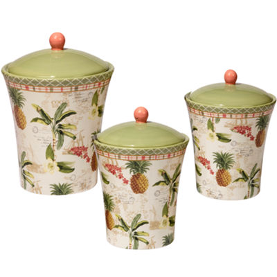 Certified International Floridian 3-pc. Canister