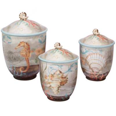 Certified International Coastal View 3-pc. Canister