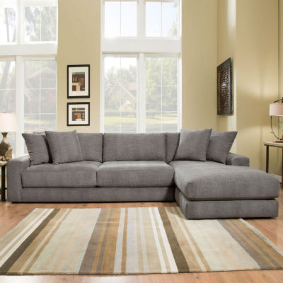 Fabric Possibilities Ponderosa Quick Ship 2-Piece Right Arm Facing Sectional in Curious : right arm facing sectional - Sectionals, Sofas & Couches