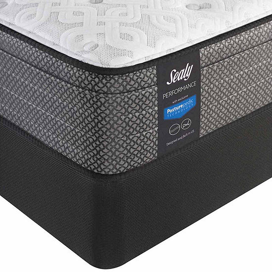Sealy® Besant Cushion Firm Eurotop - Mattress + Box Spring
