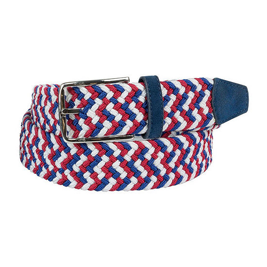 Dallas + Main Multi Color Stretch Web Casual Belt