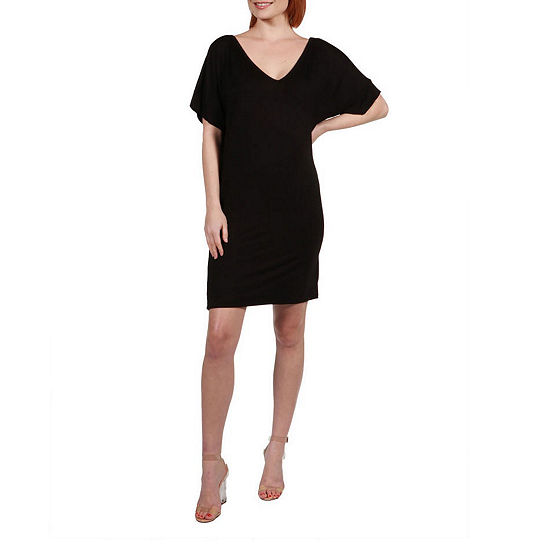 24/7 Comfort Apparel Irresistible Black Party Dress - Plus