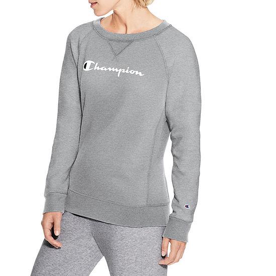 Champion Womens Long  Sleeve Sweat Shirt