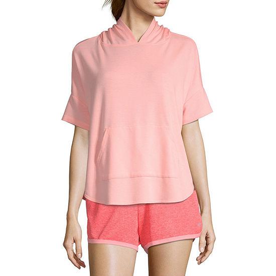 Xersion Womens Short Sleeve Lounge Hoodie