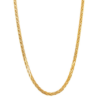 "14K Yellow Gold Diamond-Cut Wheat Chain 22"" Necklace"