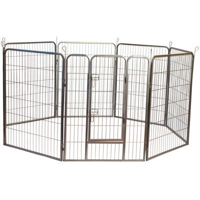 Iconic Pet Metal Tube Small-Medium Playpen