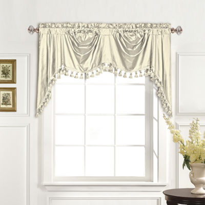 United Curtain Co. Austrian Dupioni Silk Back-Tab Valance