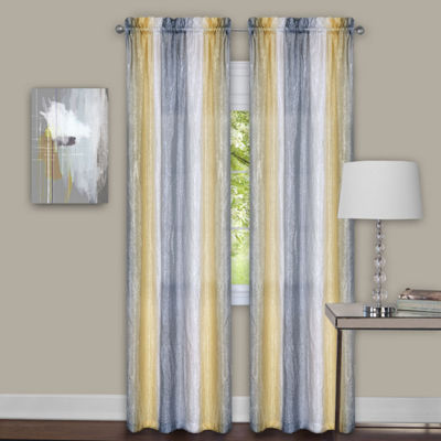 Sombre 2-Pack Rod-Pocket Curtain Panel