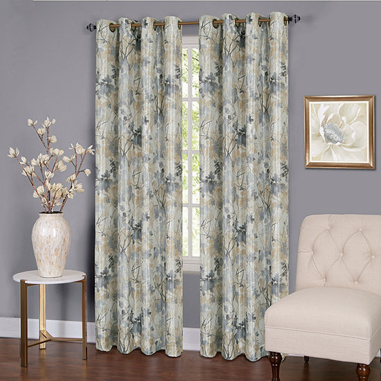 Tranquil Light-Filtering Grommet-Top Single Curtain Panel