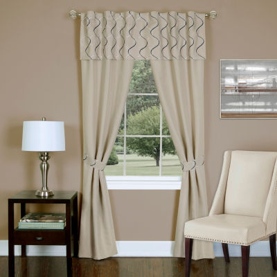 Trellis 5-Piece Rod-Pocket Curtain Panel
