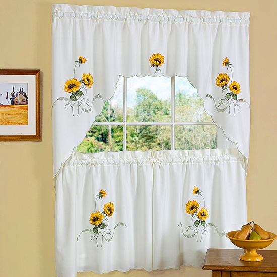 Sunshine 3-pc. Rod-Pocket Kitchen Curtain Set