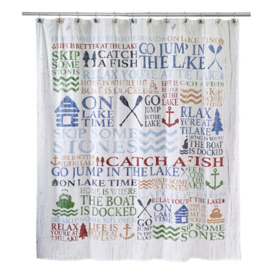 Avanti® Lake Words Shower Curtain