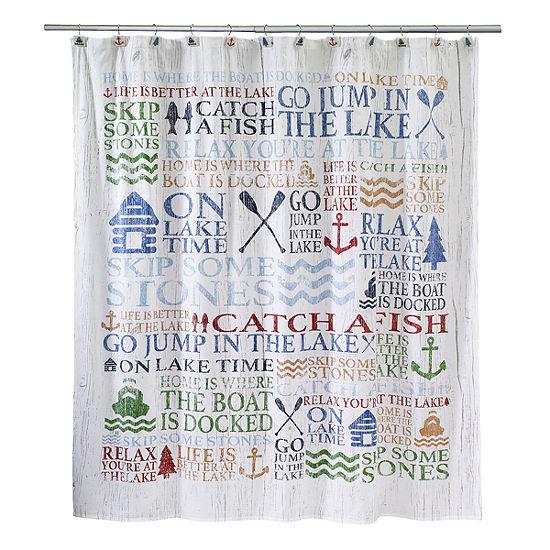 Avanti® Lake Words Shower Curtain