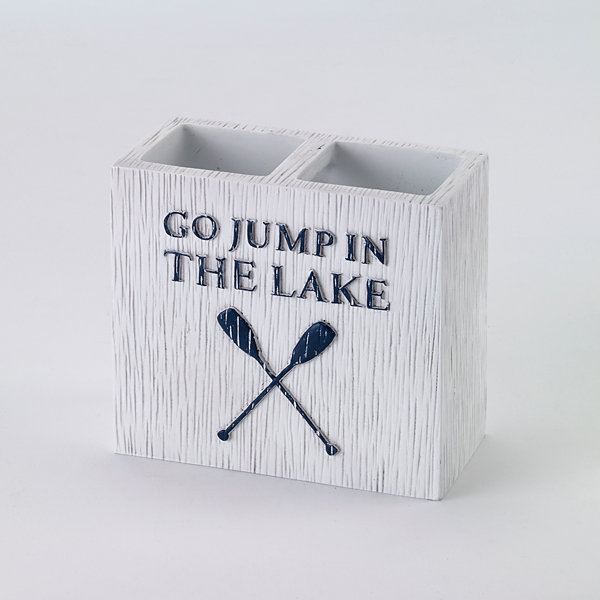 Avanti® Lake Words Toothbrush Holder
