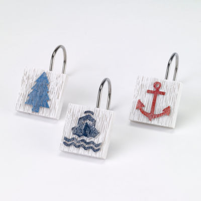 Avanti® Lake Words Shower Curtain Hooks
