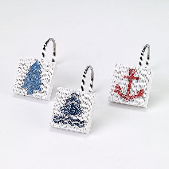 AvantiR Lake Words Shower Curtain Hooks
