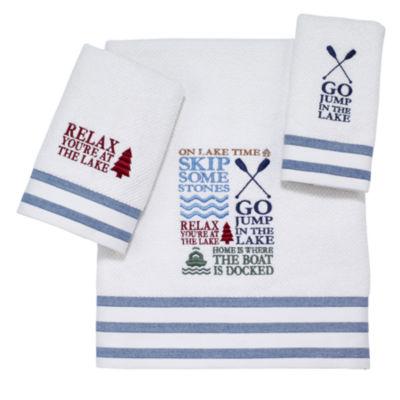 avanti lake words bath towels