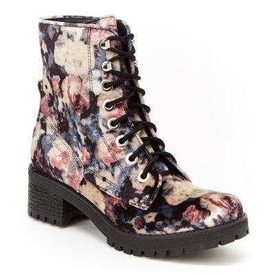 Union Bay Allie Womens Combat Boots