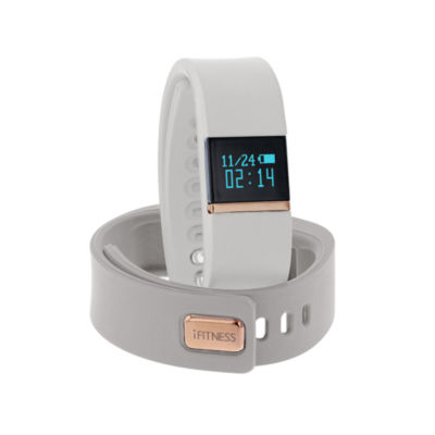 Ifitness Activity Smart Watch with Interchangeable Band - Rose/White & Gray