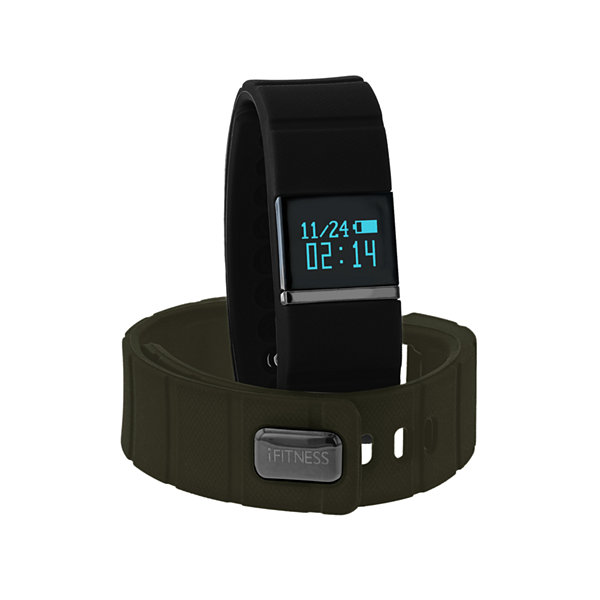 Ifitness Activity Smart Watch with Interchangeable Band - Black & Green
