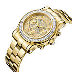 JBW Womens Multi-Function Gold Tone Bracelet Watch-J6330a