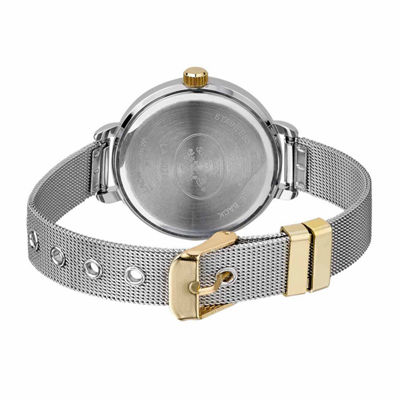 Laura Ashley Mesh Womens Two Tone Strap Watch-La31026tt
