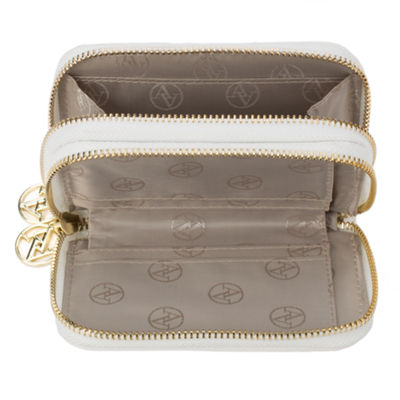 Adrienne Vittadini   Small Dual Zip Around Zip Around Wallet