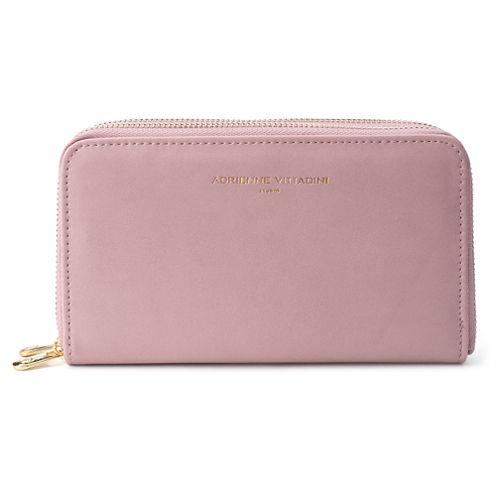 Adrienne Vittadini   Dual Zip Around Zip Around Wallet