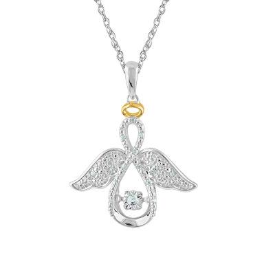 Womens 1/10 CT. T.W. White Diamond Pendant Necklace