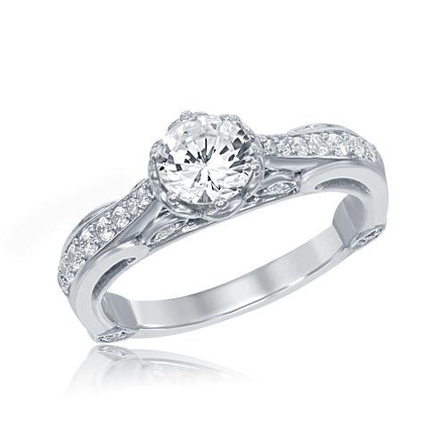 "Enchanted by Disney 1 C.T. T.W. Diamond 14K White Gold ""Belle"" Bridal Ring"