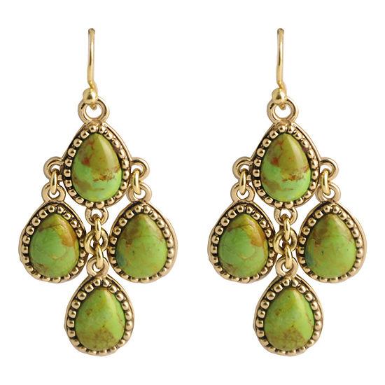 Artsmith By Barse 1 Pair Green Chandelier Earrings