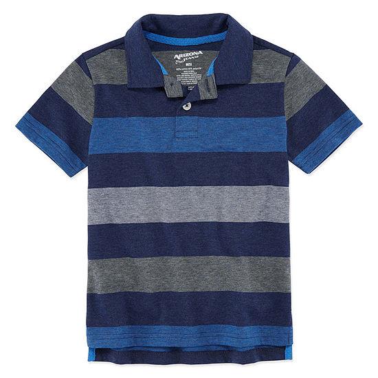Arizona Boys Short Sleeve Polo Shirt - Preschool