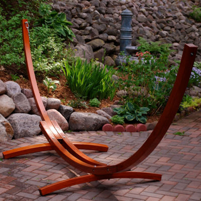 12-Foot Russian Pine Hardwood Arc Hammock Stand