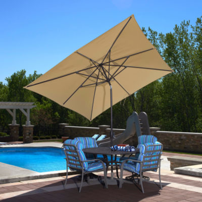 Caspian 8-Ft X 10-Ft Rectangular Market Umbrella