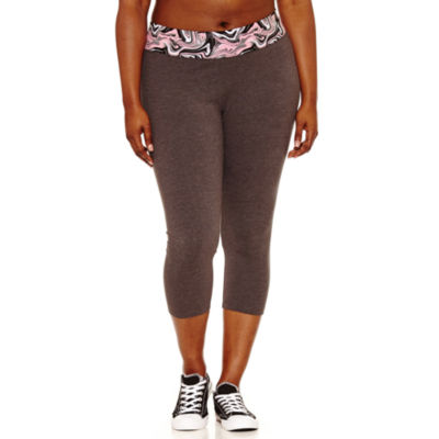 Flirtitude Yoga Crop Pant- Juniors Plus