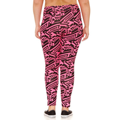 Flirtitude Wide Waistband Leggings-Juniors Plus