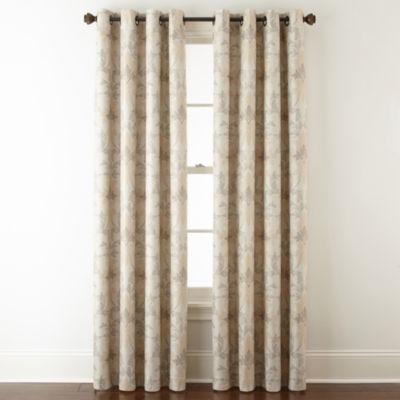 Linden Street Aurora Haven Damask Blackout Grommet-Top Curtain Panel