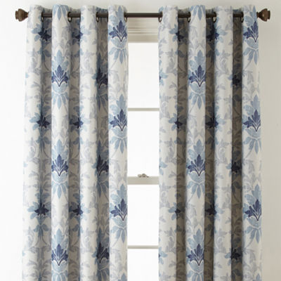Linden Street Aurora Haven Damask Blackout Grommet-Top Curtain Panel