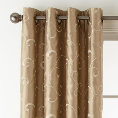 Nice Royal Velvet® Plaza Embroidery Blackout Grommet Top Curtain Panel