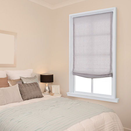JCPenney Home Relaxed Cordless Light-Filtering Roman Shade, One Size , Gray