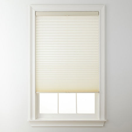JCPenney Home Top-Down/Bottom-Up Cordless Pleated Shade - FREE SWATCH, One Size , White